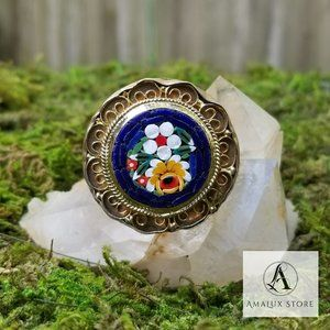 Gorgeous Handcrafted Brass Flower Design Ring